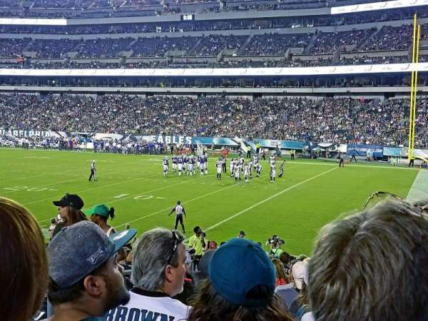 Lincoln Financial Field, section: 106, row: 20, seat: 24