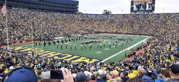 Michigan Stadium, section: 8, row: 56, seat: 2