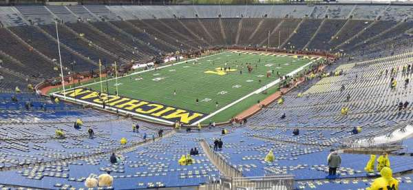 Michigan Stadium, section: 8, row: 96