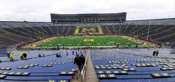 Michigan Stadium, section: 23, row: 77