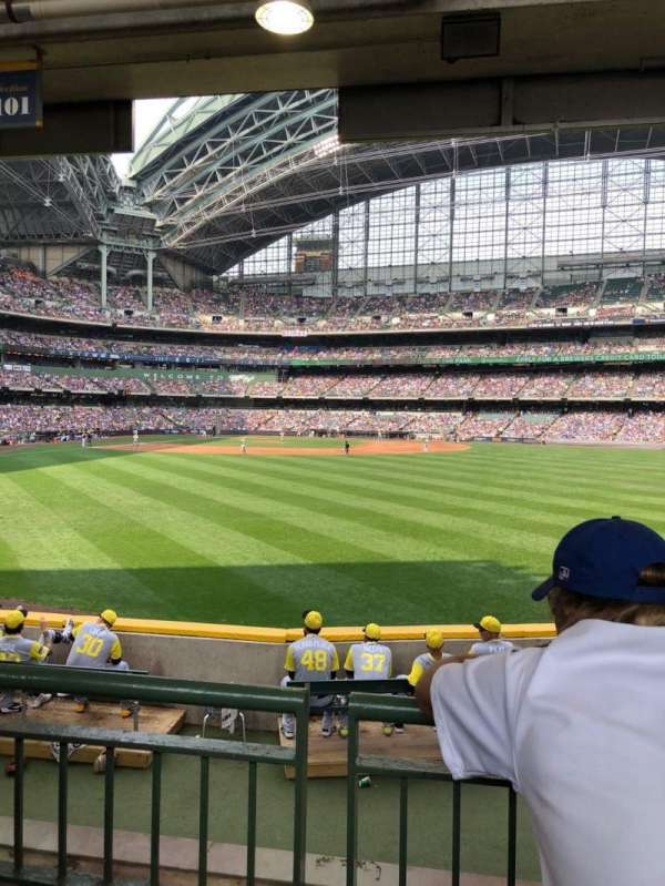Miller Park, section: 101, row: 2