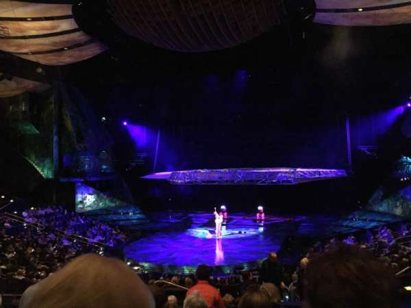 Mystere Theatre at Treasure Island, section: 204, row: GG, seat: 6