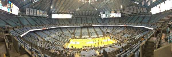 Dean E. Smith Center, section: 208, row: J