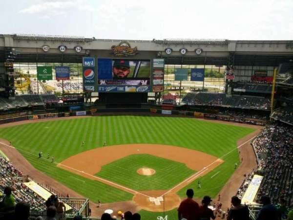 Miller Park, section: 423, row: 20, seat: 12
