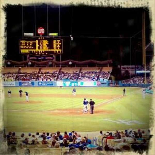 Dodger Stadium, section: 3FD, row: J, seat: 3