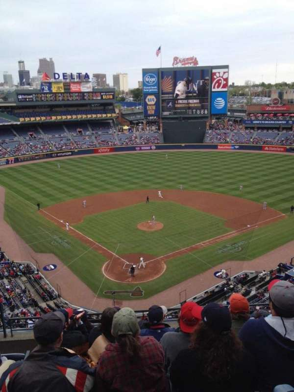 Turner Field, section: 401, row: 7, seat: 3