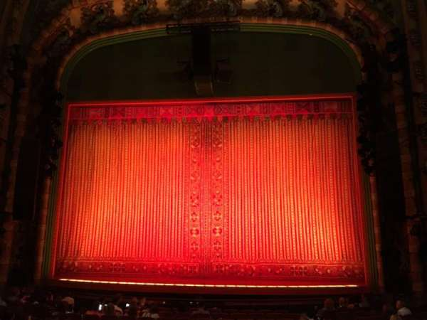 New Amsterdam Theatre, section: Orchestra C, row: Q, seat: 103