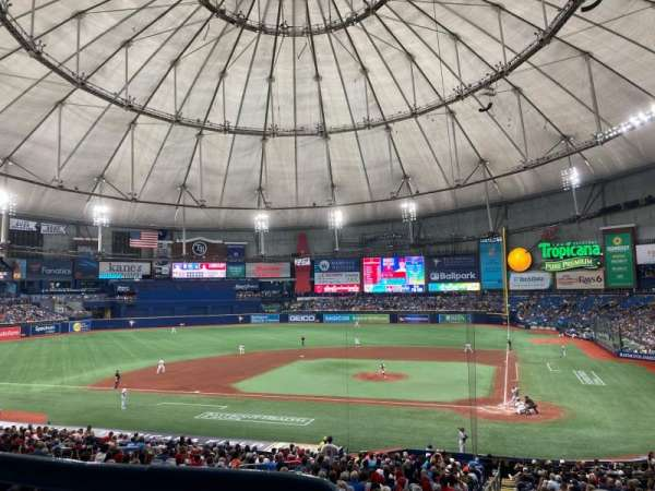 Tropicana Field, section: L107, row: PP, seat: 1