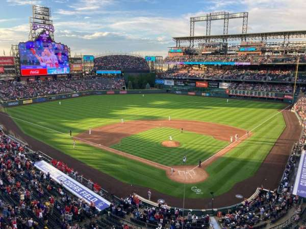 Coors Field, section: L332, row: 2, seat: 7