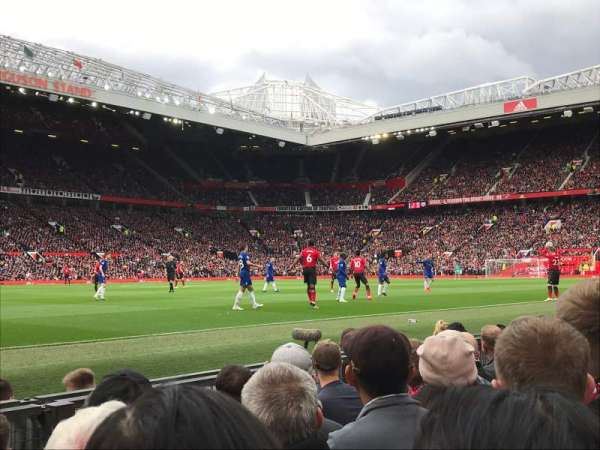 Old Trafford, section: STH121, row: EE, seat: 224