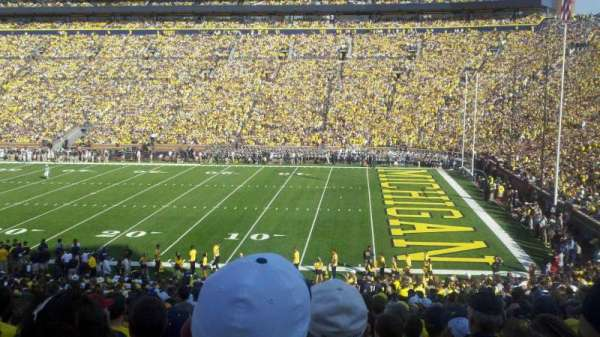Michigan Stadium, section: 20, row: 35, seat: 18