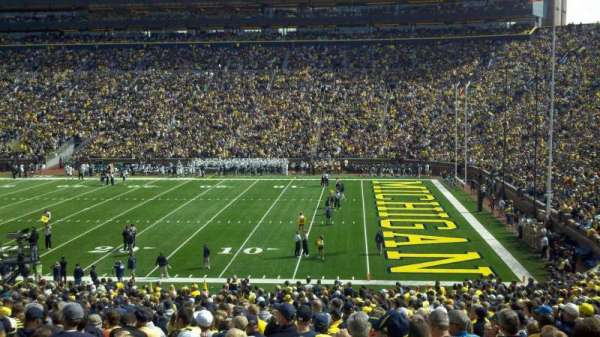 Michigan Stadium, section: 20, row: 45, seat: 23