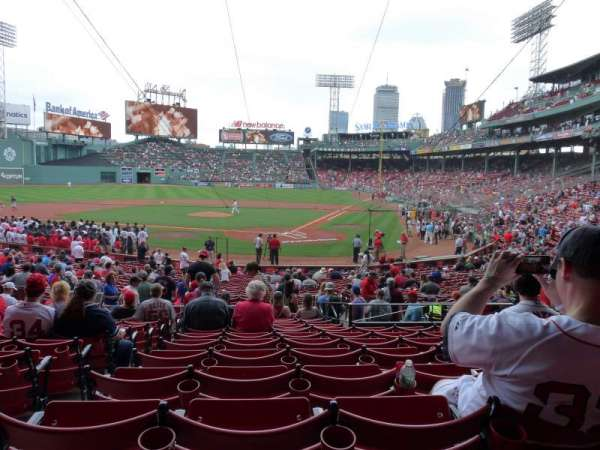 Fenway Park, section: Loge Box 135, row: NN, seat: 6