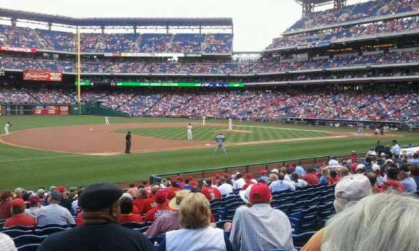 Citizens Bank Park, section: 134, row: 20, seat: 7