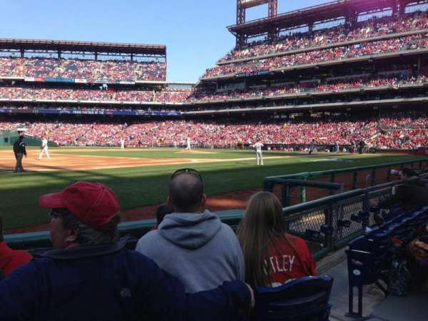 Citizens Bank Park, section: 134, row: 5, seat: 4