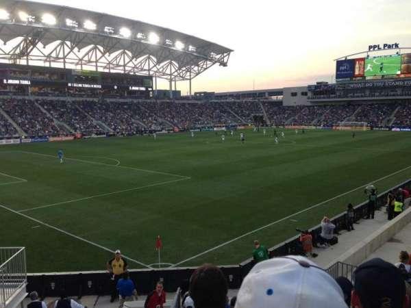 Talen Energy Stadium, section: 133, row: N, seat: 12