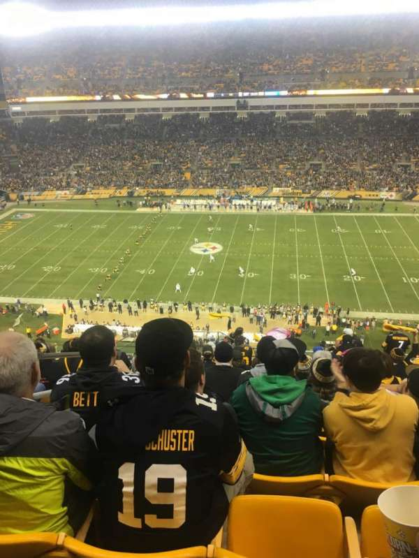 Heinz Field Section 536 Row P Seat 23