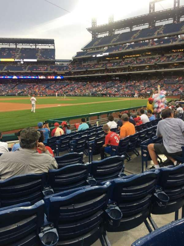 Citizens Bank Park, section: 134, row: 10, seat: 5