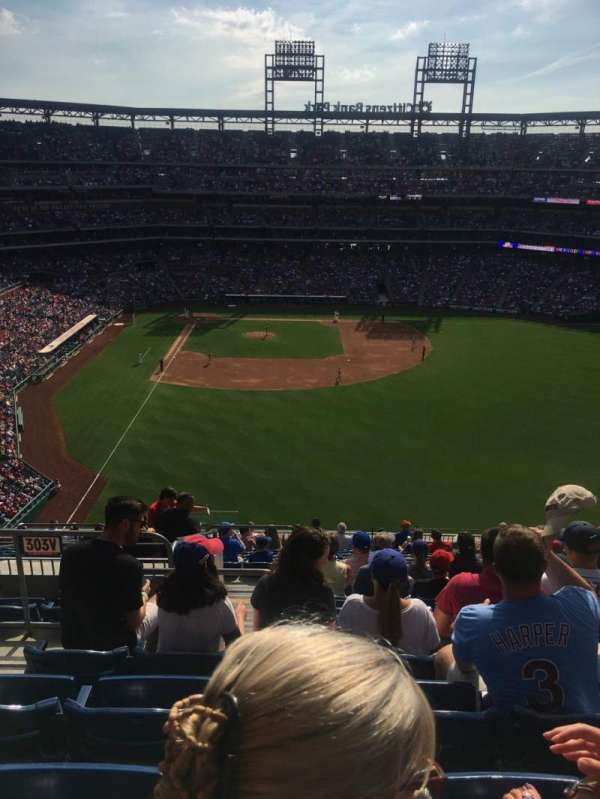 Citizens Bank Park, section: 303, row: 17, seat: 22