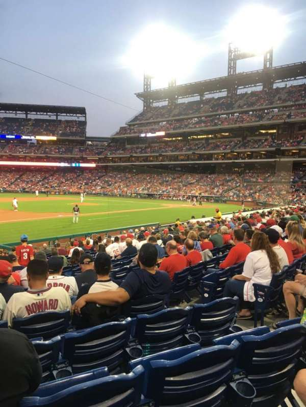 Citizens Bank Park, section: 134, row: 20, seat: 6
