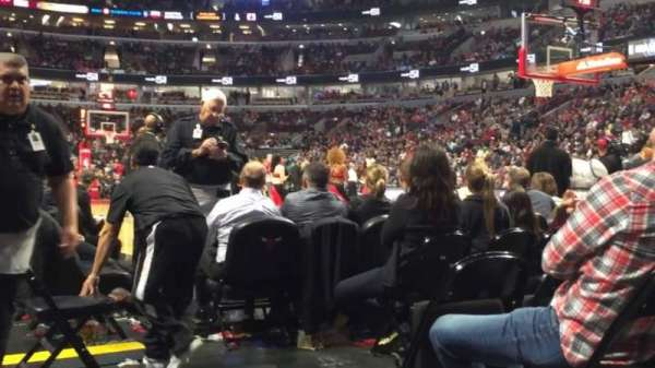 United Center, section: 109, row: A, seat: 1