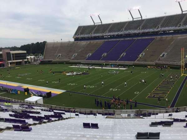 Dowdy-Ficklen Stadium, section: 2, row: SS, seat: 16