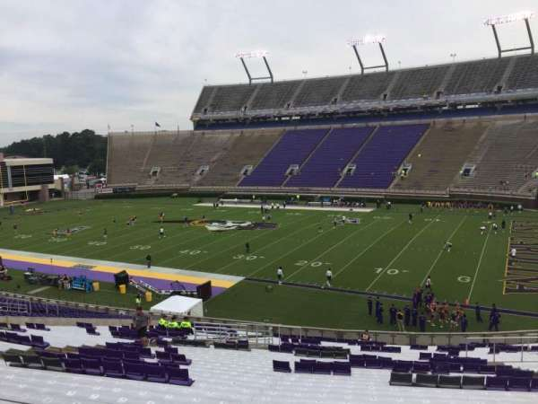 Dowdy-Ficklen Stadium, section: 3, row: SS, seat: 12