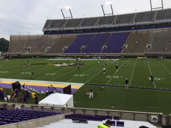 Dowdy-Ficklen Stadium, section: 4A, row: S, seat: 5
