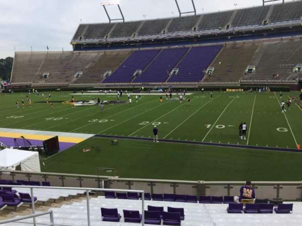 Dowdy-Ficklen Stadium, section: 3, row: S, seat: 14
