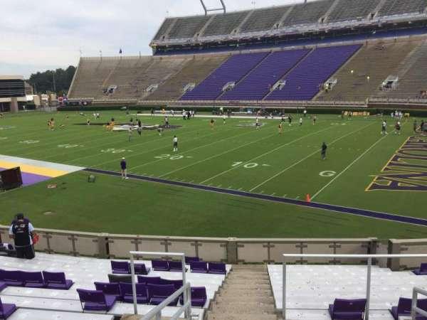 Dowdy-Ficklen Stadium, section: 2, row: S, seat: 10