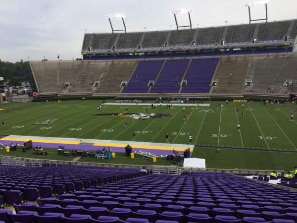 Dowdy-Ficklen Stadium, section: 4B, row: PP, seat: 24