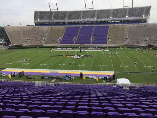 Dowdy-Ficklen Stadium, section: 5, row: PP, seat: 10