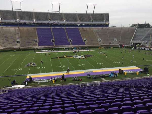 Dowdy-Ficklen Stadium, section: 7, row: OO, seat: 17