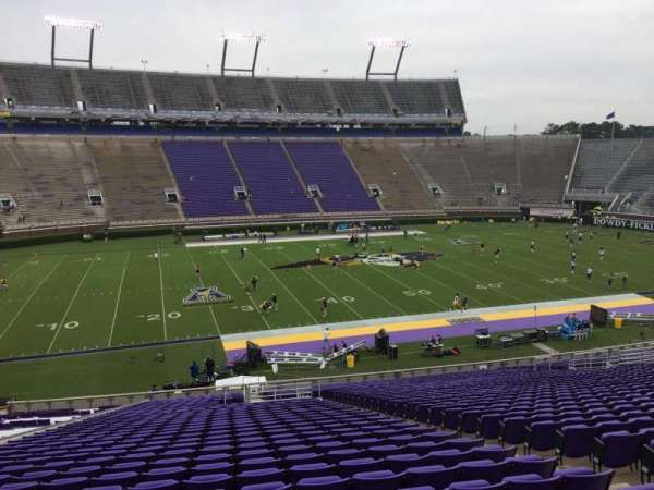 Dowdy-Ficklen Stadium, section: 8A, row: OO, seat: 6