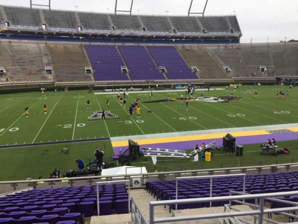 Dowdy-Ficklen Stadium, section: 8A, row: S, seat: 5