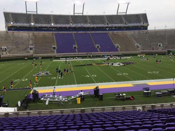 Dowdy-Ficklen Stadium, section: 7, row: S, seat: 18
