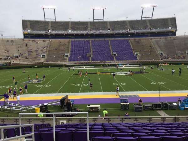 Dowdy-Ficklen Stadium, section: 6, row: P, seat: 26