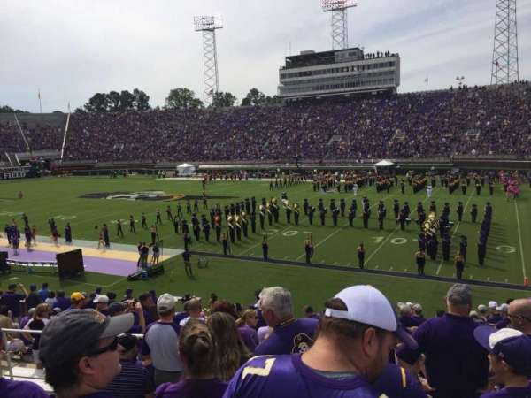 Dowdy-Ficklen Stadium, section: 14, row: R, seat: 10