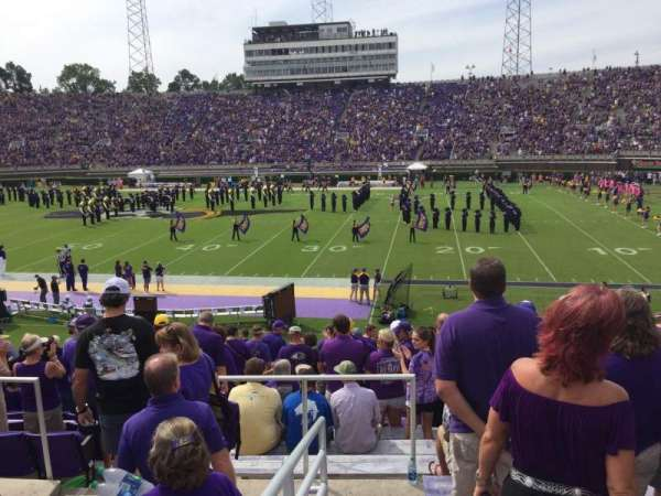 Dowdy-Ficklen Stadium, section: 15, row: Q, seat: 25
