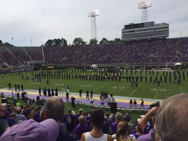 Dowdy-Ficklen Stadium, section: 16, row: Q, seat: 1