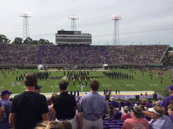 Dowdy-Ficklen Stadium, section: 17, row: HH, seat: 23