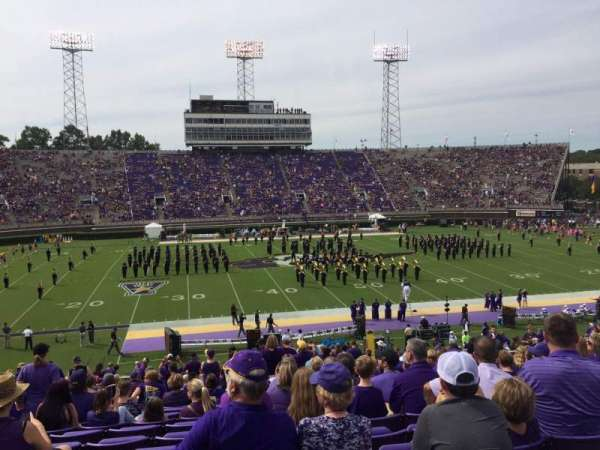 Dowdy-Ficklen Stadium, section: 18, row: FF, seat: 22