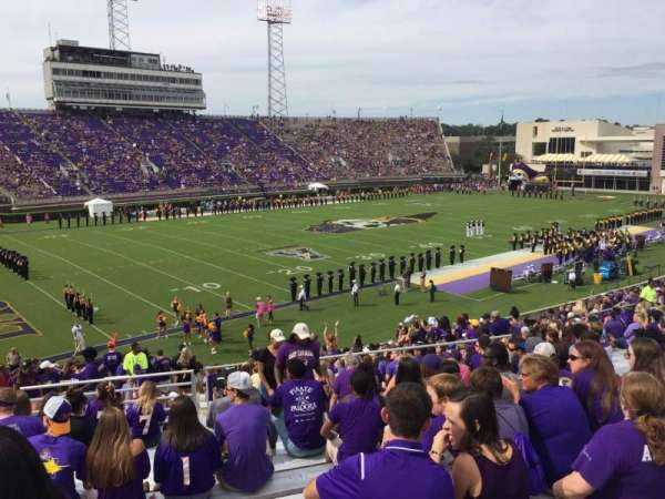 Dowdy-Ficklen Stadium, section: 21, row: BB, seat: 12