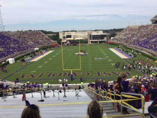Dowdy-Ficklen Stadium, section: 27, row: GG, seat: 3