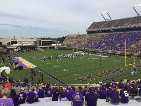 Dowdy-Ficklen Stadium, section: 31, row: AA, seat: 10