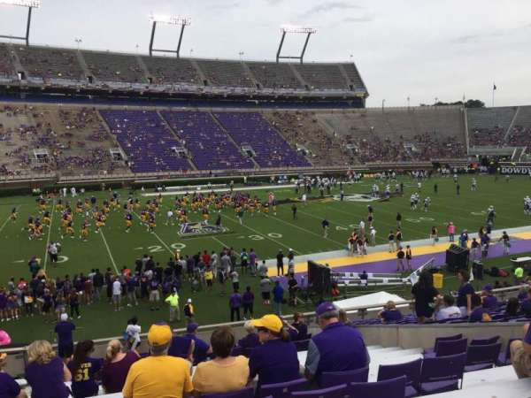 Dowdy-Ficklen Stadium, section: 8B, row: V, seat: 26