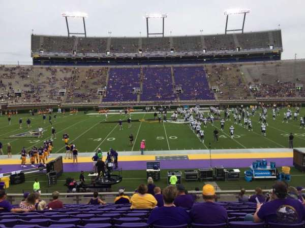 Dowdy-Ficklen Stadium, section: 6, row: O, seat: 17