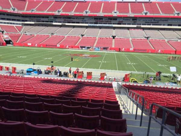 Raymond James Stadium, section: 111, row: Cc, seat: 23