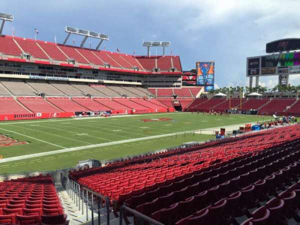 Raymond James Stadium, section: 103, row: Cc, seat: 24
