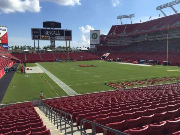 Raymond James Stadium, section: 145, row: Cc, seat: 23